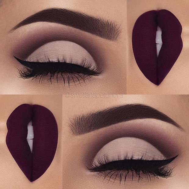 MATTE EYES AND LIPS