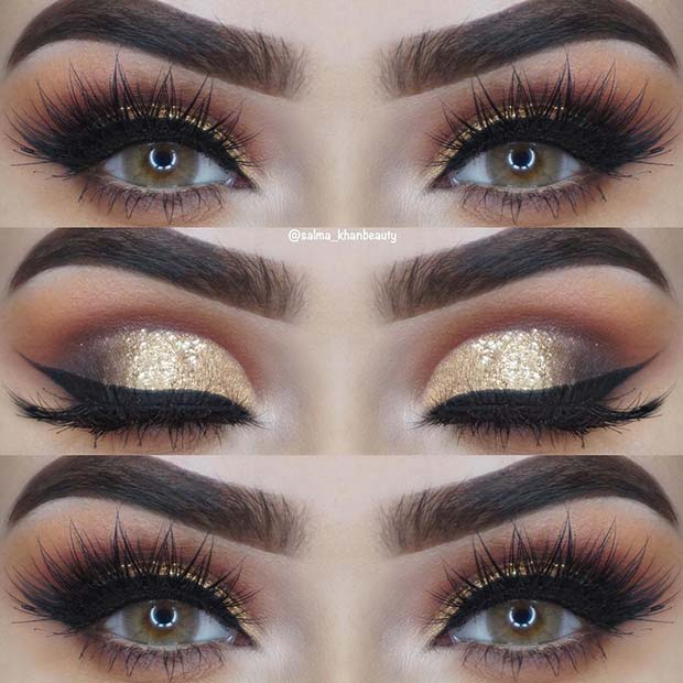 BOLD GOLD, SHIMMERY EYES
