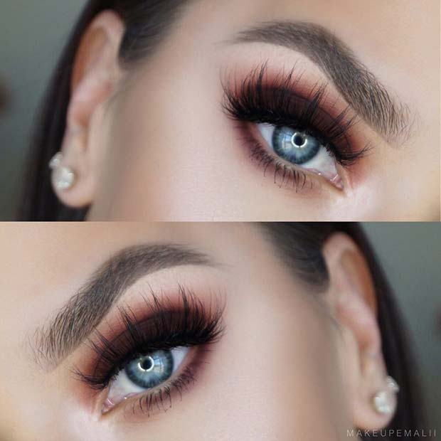 SMOKEY BROWN EYE MAKEUP IDEA