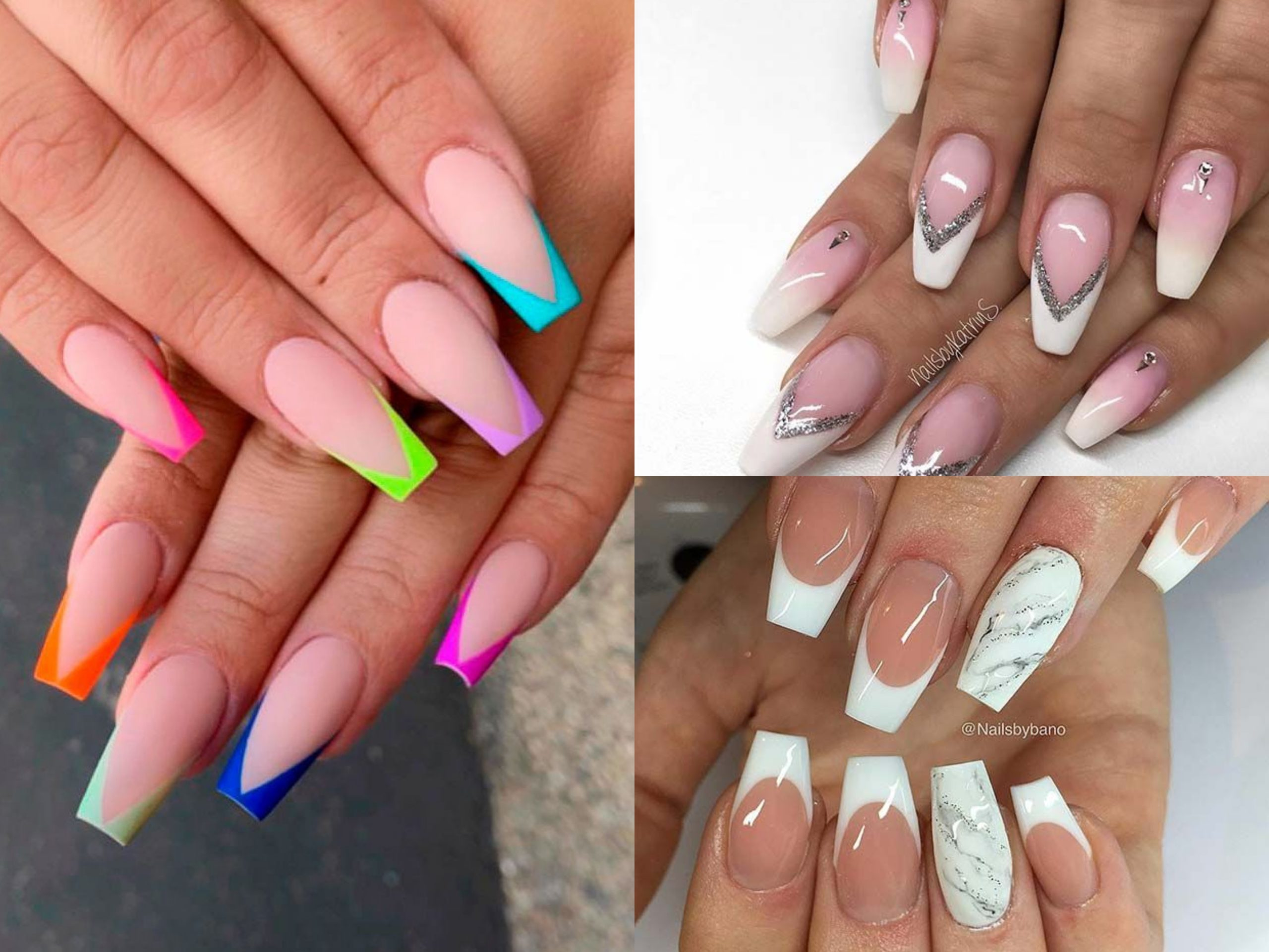 20 Luxury Coffin French Tips Nail Designs Top Fashion News
