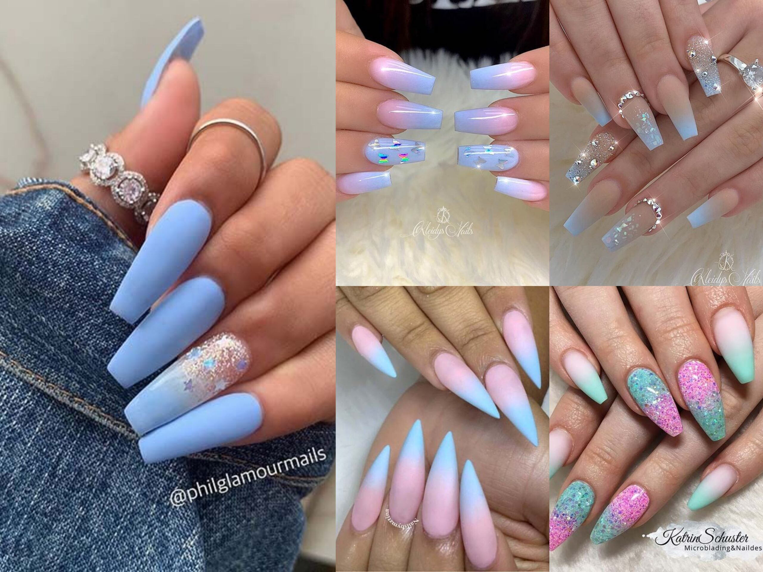 20 Blue Ombre Nails And Ideas We Re Trying Asap Top Fashion News